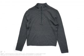 Stand Collar Half Zip Shirt by Prada