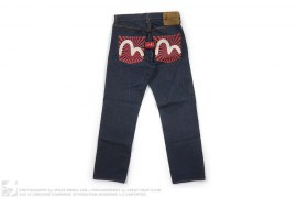 EU Paris No. 1472 Swan Logo Raw Denim by Evisu