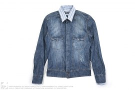 Double Collar Denim Shirt by Dolce & Gabbana
