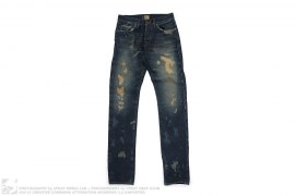 Bleached Burney Selvedge Denim by Energie