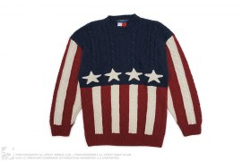 Flag Cable Knit Sweater by Tommy Hilfiger