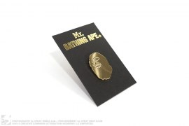 Mr. Bathing Ape Gold Apehead Lapel Pin by A Bathing Ape