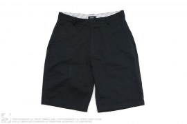 H Monogram Embroidered Chino Shorts by Huf