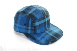 Plaid Five Panel Camp Cap by A Bathing Ape