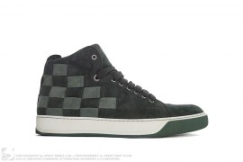 mens shoes Suede High Top Sneaker by Lanvin