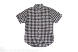 Embroidered SS Plaid Button Down Shirt by A Bathing Ape