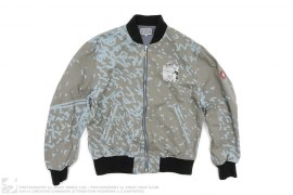 Graphic Print Cotton Work Jacket by Cav Empt
