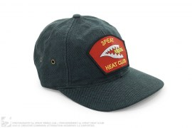 Flight Patch 6 Panel Strapback Cap by 3peat LA x heatclub