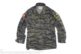 mens jacket M.W.T.B./D.L.T.R. Tiger Camo Lightweight Field Jacket by 3peat x Divinities