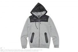 Leather Accent Zip Hoodie by Marc Jacobs