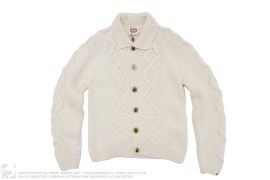 Cable Knit Cowichan Wool Cardigan by A Bathing Ape