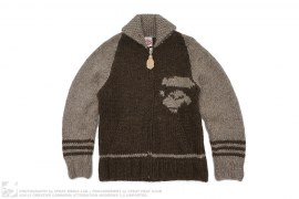 Apeface Cowichan Sweater Jacket by A Bathing Ape