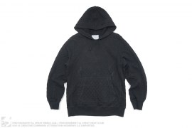 Diamond Quilted Pullover Hoodie by Umit Benan