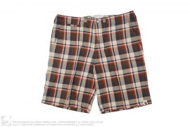 Bape Check Chino Shorts by A Bathing Ape