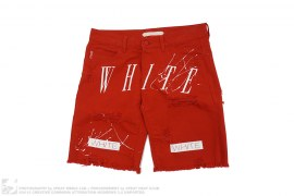 White Canvas Shorts by Off-White