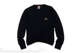 Wool Long Sleeve Sweatshirt by Evisu