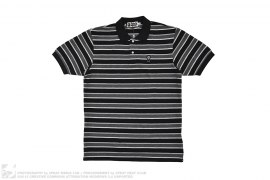 Milo Striped Short Sleeve Polo by A Bathing Ape