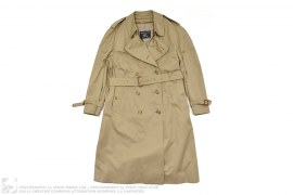 Vintage Trench Coat With Zip Out Wool Liner by Burberry
