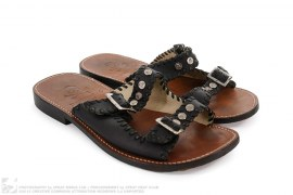 Leather Double Strap Sandals by Mastermind Japan