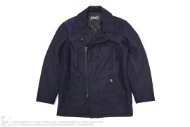 Japan Exclusive Military Pea Coat by Stussy x Schott
