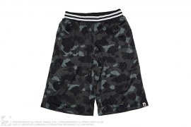 Color Camo Baggy Mesh Basketball Shorts by A Bathing Ape