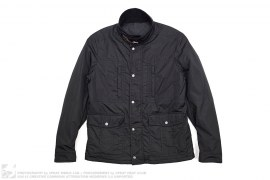 Stand Collar Quilted Nylon Jacket by Gucci