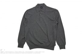 Wool Long Sleeve Polo by Hugo Boss