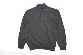Wool Long Sleeve Polo by Hugo Boss