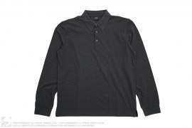 Cotton Long Sleeve Polo by Hugo Boss