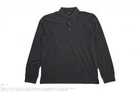 Cotton Long Sleeve Polo by Hugo Boss
