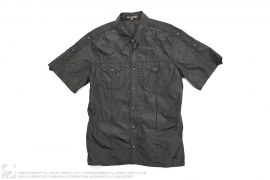 Silk Short Sleeve Button Up Shirt by Bottega Veneta