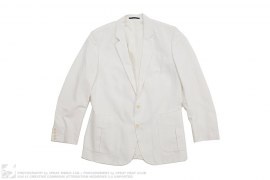 Cotton Linnen Blazer by Reiss