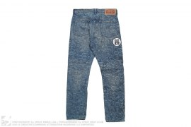 Type 02 Regular Fit Milo Comic All Over Print Denim by A Bathing Ape