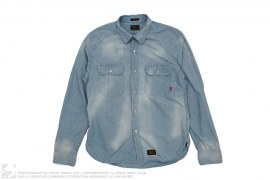 Cell Long Sleeve Button Up by Wtaps