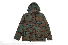 Camo All Weather Hooded Jacket by Huf