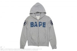 BAPE Samural Apehead Capsule Full Zip Hoodie by A Bathing Ape x Undefeated