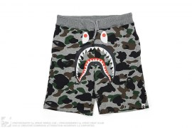 Heather Camo Shark Sweatshorts by A Bathing Ape