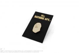 Mr. Bathing Ape Apehead Pin by A Bathing Ape