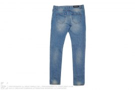 mens jeans Light Wash Distressed Denim by Balmain