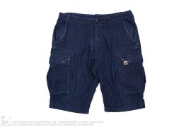 Denim Cargo Shorts by A Bathing Ape