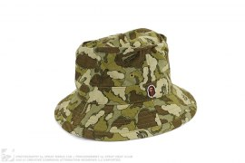 Kaws Cloud Camo Bucket Crusher Hat by A Bathing Ape x Kaws