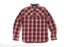 Bape Check Plaid Heavy Button-up Shirt by A Bathing Ape