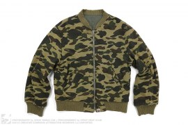 Reversible 1st Camo Sweat MA1 Bomber Jacket by A Bathing Ape