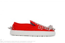 Spiked Canvas Slip-on Sneaker by DSquared