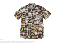 1st Camo Patchwork Short Sleeve Button-Up by A Bathing Ape