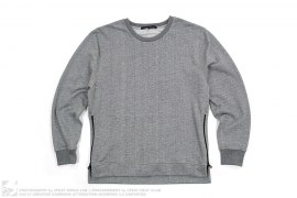 Villain Side Zip Interior Pocket Crewneck Sweatshirt by John Elliott