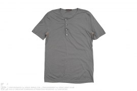 4 Button Short Sleeve Henley Tee by Louis Vuitton
