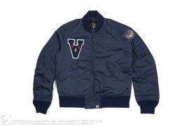 A Wappen MA1 Bomber Flight Jacket by A Bathing Ape