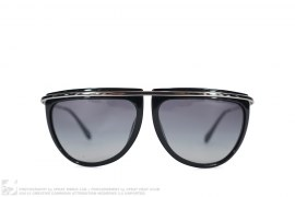 mens sunglasses Collab Black Frame Sunglasses by Oliver Peoples x Balmain