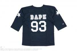 3/4 Sleeve Football Jersey Tee by A Bathing Ape x Champion